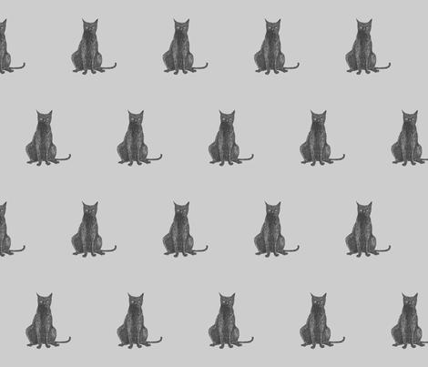 Black Cat fabric by remark on Spoonflower - custom fabric