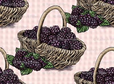 Blackberry Basket - Light Pink - Large Scale