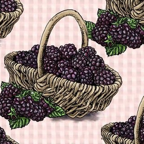 Blackberry Basket - Light Pink - Large Scale