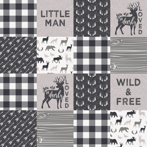 Wild & Free / Little Man Woodland Wholecloth - C3 plaid