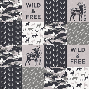 Wild&Free/Deerly Loved Woodland Wholecloth - C3
