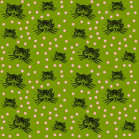 Rmore-meow-dark-grass-green-with-pretty-pink-dots_shop_preview