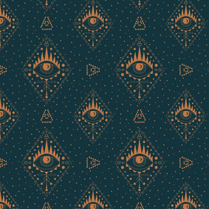 Boho third eye sacred geometry