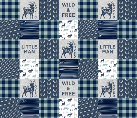Little Man/So deerly loved - C12 Plaid fabric by littlearrowdesign on Spoonflower - custom fabric
