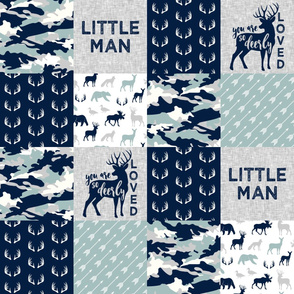 Little Man/Deerly Loved Woodland Wholecloth - C12