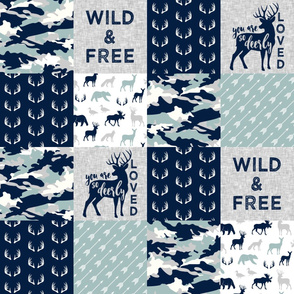 Wild&Free/Deerly Loved Woodland Wholecloth - C12
