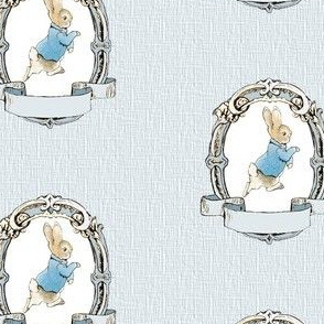 Peter Rabbit Shabby chic Frame - Light Blue - Mini Scale