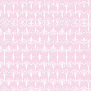 pink and white art deco
