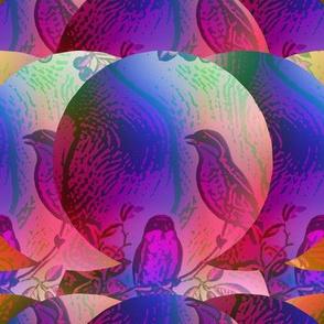 crazy imaginary planet 76 singing birds summer autumn purple fuchsia PSMGE