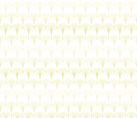 art deco fleeting yellow fabric by arrpdesign on Spoonflower - custom fabric