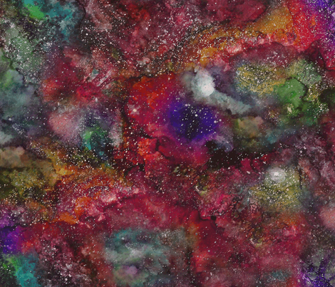 Ink Galaxy fabric by lierre on Spoonflower - custom fabric
