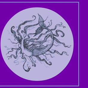 Mermaid #2-Violets_For_Cushions