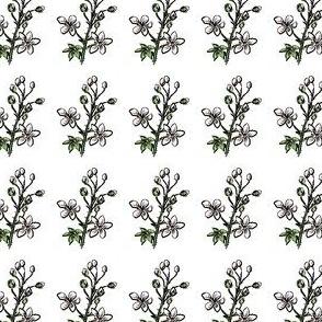 Blackberry Blossom Sprig - Mirrored - Ultra mini scale