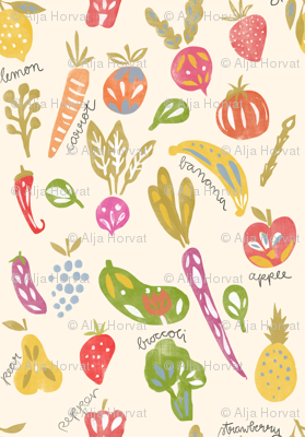 Fruits and Veggies Print