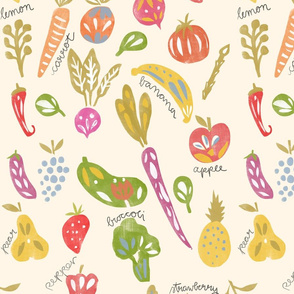 Fruits and Veggies Print