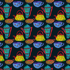Decorative_cup_and_teapot_seamless_pattern_on_blue