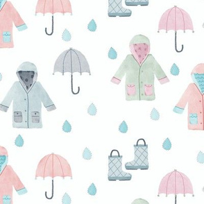 Watercolor Rain Gear
