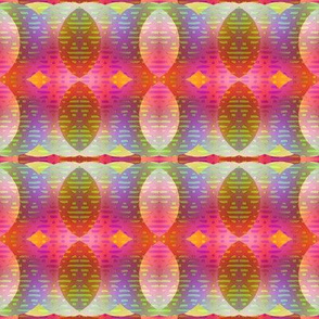 LEAVES ABSTRACT PINK PURPLE CORAL BOHO SUNNY AFTERNOON