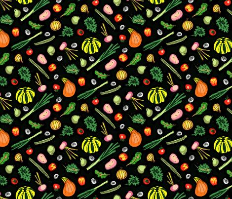 Groceries (dark) fabric by seesawboomerang on Spoonflower - custom fabric
