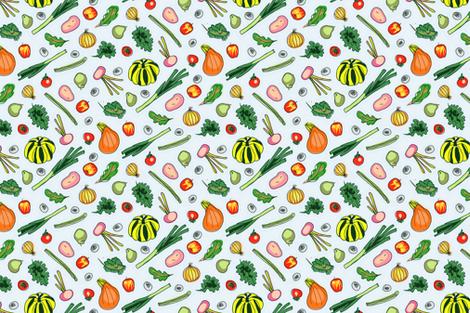 Groceries (light) fabric by seesawboomerang on Spoonflower - custom fabric