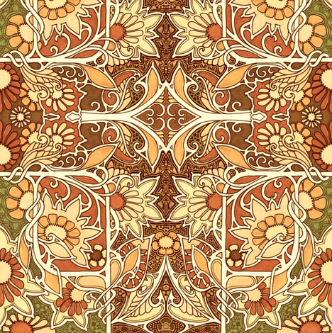 Autumn Never Leaves (in art) fabric by edsel2084 on Spoonflower - custom fabric