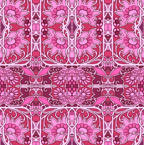 A Hotter Shade of Pink fabric by edsel2084 on Spoonflower - custom fabric