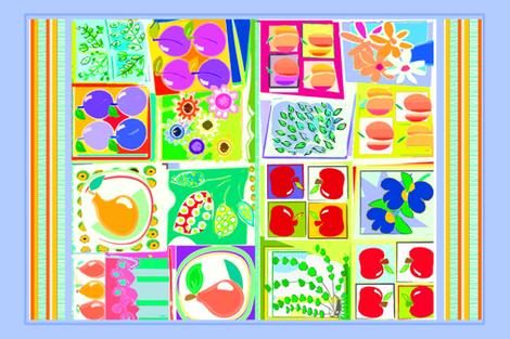SUMMER_FRUITS-CC fabric by soobloo on Spoonflower - custom fabric