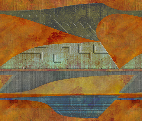 four-level lighter landscape fabric by wren_leyland on Spoonflower - custom fabric