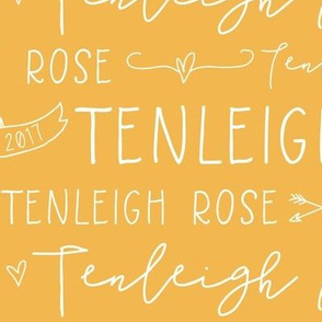 Girls Personalized Name and Birthdate Baby Fabric - Tenleigh