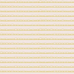 frilly stripe mustard/blush