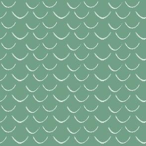 mermaid scales~mermaid green