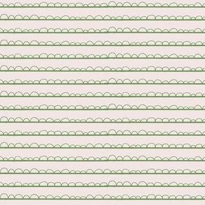 frilly stripe jade green/blush