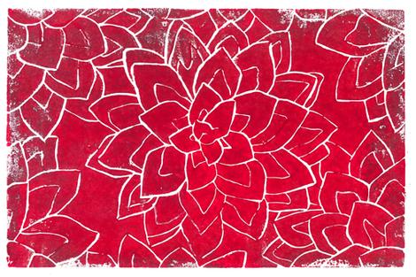 Succulent block print fabric by runlenarun on Spoonflower - custom fabric