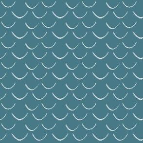 mermaid scales~pool blue