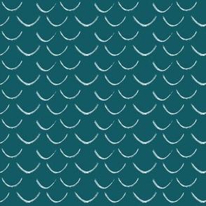 mermaid scales~teal