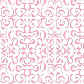 ARABESQUE Pale Pink on White
