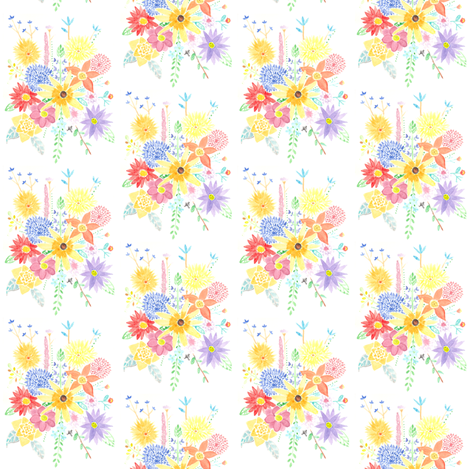 ARIANNESJOY-_BUTTERFLY_FLOWERS_PRINT fabric by lilacfarmsstudio on Spoonflower - custom fabric