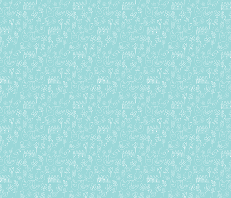 Musical Birds fabric by lynnpriestleydesign on Spoonflower - custom fabric