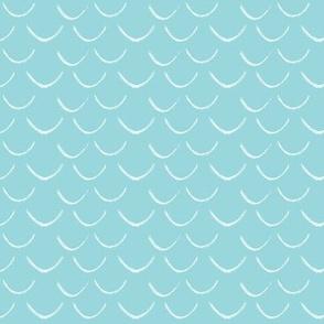 mermaid scales~sky blue