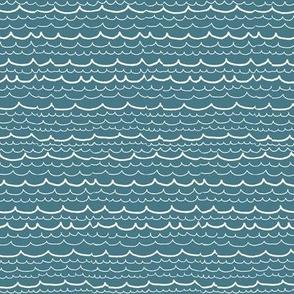 Pool blue waves