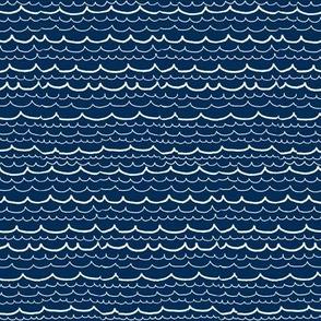 navy blue waves