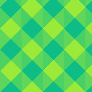 Blue and Green  Checkered