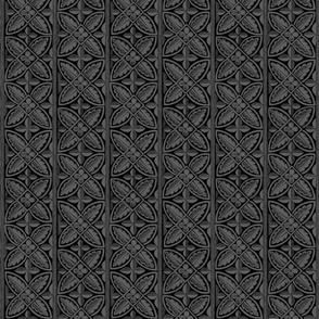 Gothic Cathedral Flowers Grey Black