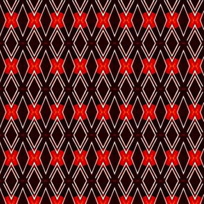 Ancestral Pattern with Red