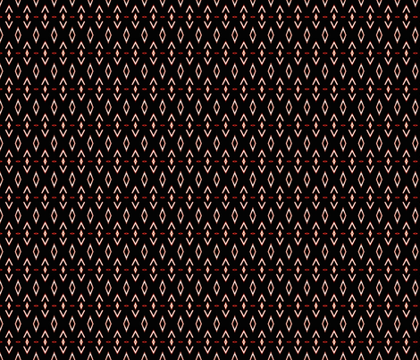 Ancestral Pattern on Black fabric by vickywestover on Spoonflower - custom fabric