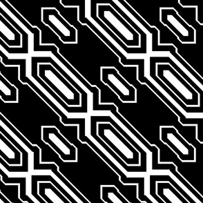 Black and White Geometric 2