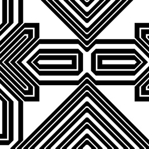 Black and White Geometric 7