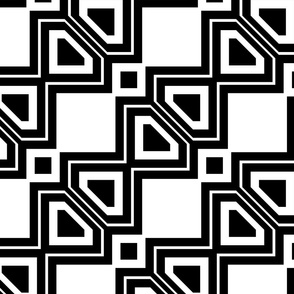 Black and White Geometric 4