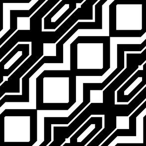 Black and White Geometric 15