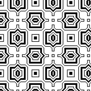 Black and White Geometric 12